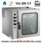 Forno de Convecção a Gás de 10 Níveis GN 1/1 Industrial (transporte incluído) - Refª 101363