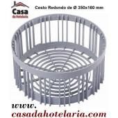 Cesto Redondo de Ø 350x160 mm - Refª 101382