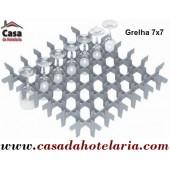 Grelha Divisória 7x7 para 49 Copos de Ø 62 mm (versão para cesto 500x500) - Refª 101399