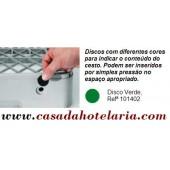 Disco Verde para Identificação de Conteúdo de Cesto - Refª 101402