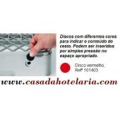 Disco Vermelho para Identificação de Conteúdo de Cesto - Refª 101403