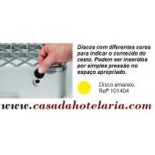 Disco Amarelo para Identificação de Conteúdo de Cesto - Refª 101404