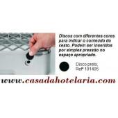 Disco Preto para Identificação de Conteúdo de Cesto - Refª 101405
