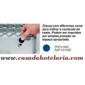 Disco Azul para Identificação de Conteúdo de Cesto - Refª 101406