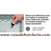 Disco Cinzento para Identificação de Conteúdo de Cesto - Refª 101407