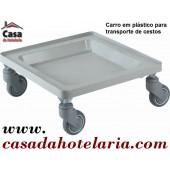 Carro para Transporte de Cestos com Base em Polipropileno - Refª 101414
