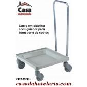 Carro para Transporte de Cestos com Guiador e Base em Polipropileno (transporte incluído) - Refª 101415