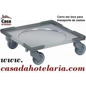 Carro para Transporte de Cestos com Base em Inox (transporte incluído) - Refª 101416