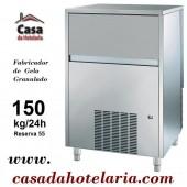 Máquina Fabricador de Gelo Granulado, Produção de 150 kg/24h com Reserva de 55 kg, Condensação Ar (transporte incluído) - Refª 101438