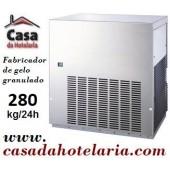 Máquina Fabricador de Gelo Granulado, Produção de 280 kg/24h, Condensação Ar (transporte incluído) - Refª 101439