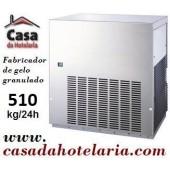 Máquina Fabricador de Gelo Granulado, Produção de 510 kg/24h, Condensação Água (transporte incluído) - Refª 101440
