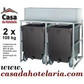 Carros Contentores para Reserva de Gelo 2x 108 kg (transporte incluído) - Refª 101444