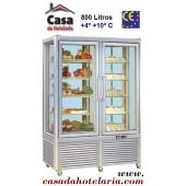 Vitrina Refrigerada de 800 Litros de 5 Níveis Fixos e 5 Níveis Rotativos (transporte incluído) - Refª 101457