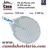Pá de Pizzas com Ø 330 mm de Cabeça Perfurada e Comprimento de 1520 mm - Refª 101475