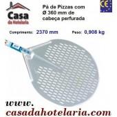 Pá de Pizzas com Ø 360 mm de Cabeça Perfurada e Comprimento de 2370 mm - Refª 101482