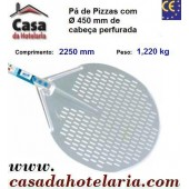 Pá de Pizzas com Ø 450 mm de Cabeça Perfurada e Comprimento de 2250 mm - Refª 101488