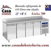 Bancada Refrigerada de 550 Litros com Alçado de 4 Portas GN 1/1 da Linha 700 (transporte incluído) - Refª 101524