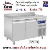 Bancada Refrigerada de 260 Litros com Alçado de 2 Portas GN 1/1 da Linha 700 (transporte incluído) - Refª 101548