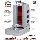 Grelhador Kebab Eléctrico em Vidrocerâmica para 60 kg (transporte incluído) - Refª 101553