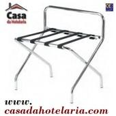 Cremalheira / Cavalete Cromado Dobrável para Malas com Guarda - Refª 101569