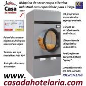 Máquina de Secar Roupa Industrial Eléctrica para 10 kg com Rotação Alternada do Tambor e Painel Digital Multilinguas, 18400 Watts (transporte incluído) - Refª 101571