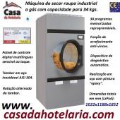 Máquina de Secar Roupa Industrial a Gás para 34 kg com Rotação Alternada do Tambor, Painel Digital (transporte incluído) - Refª 101580