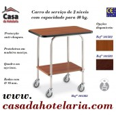 Carro de Serviço de 2 Níveis com Capacidade para 40 kg (transporte incluído) - Refª 101582