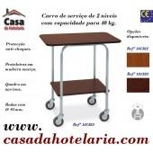 Carro de Serviço de 2 Níveis com Capacidade para 40 kg (transporte incluído) - Refª 101583