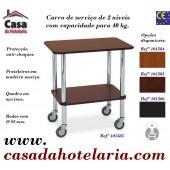 Carro de Serviço de 2 Níveis com Capacidade para 40 kg (transporte incluído) - Refª 101585