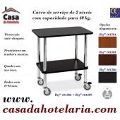 Carro de Serviço de 2 Níveis com Capacidade para 40 kg (transporte incluído) - Refª 101586