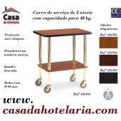 Carro de Serviço de 2 Níveis com Capacidade para 40 kg (transporte incluído) - Refª 101593