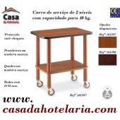 Carro de Serviço de 2 Níveis com Capacidade para 40 kg (transporte incluído) - Refª 101597