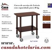 Carro de Serviço de 2 Níveis com Capacidade para 40 kg (transporte incluído) - Refª 101598