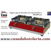Fogão a Gás de Bancada com 2 Queimadores, 2x 5 kW (transporte incluído) - Refª 101601
