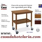 Carro de Serviço de 2 Níveis com Capacidade para 40 kg (transporte incluído) - Refª 101603