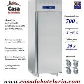Armário Refrigerado em Inox de Pastelaria para 20x EN 600x400 mm e capacidade para 700 Litros (transporte incluído) - Refª 101605