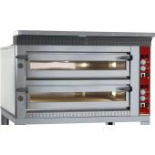 Forno de Pizzas Eléctrico de Largura Extra para 2x 6 Pizzas Ø 350 mm, 18000 Watts (transporte incluído) - Refª 101610