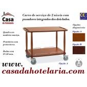 Carro de Serviço para Hotelaria de 2 Níveis (transporte incluído) - Refª 101631