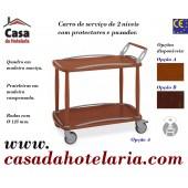 Carro de Serviço para Hotelaria de 2 Níveis (transporte incluído) - Refª 101635