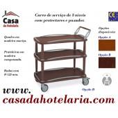 Carro de Serviço para Hotelaria de 3 Níveis (transporte incluído) - Refª 101636