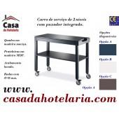 Carro de Serviço para Hotelaria de 2 Níveis com 1000x450x840 mm (transporte incluído) - Refª 101653