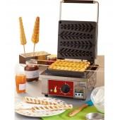 Máquina de Waffles Monofásica para 4 Palitos, Potência de 1600 Watts, 0º a +300º C (transporte incluído) - Refª 101715
