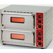 Forno de Pizzas Eléctrico Monofásico com 2 Câmaras Ø 430 mm, Potência de 6000 Watts (transporte incluído) - Refª 101720