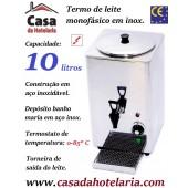 Termo de Leite Monofásico para 10 Litros, 1800 Watt (transporte incluído) - Refª 101725