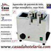 Aquecedor para 3 Pacotes de Leite, Artigo Monofásico, 1050 Watt (transporte incluído) - Refª 101727