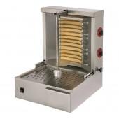 Grelhador Eléctrico Kebab Monofásico para 15 a 20 kg, Espeto de 400 mm, Potência de 3600 Watts (transporte incluído) - Refª 101810