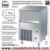 Fabricador de Cubos de Gelo com 18 gr, 47 kg/24h, Reserva 25 kg. Condensação a Água, Monofásico (transporte incluído) - Refª 101813