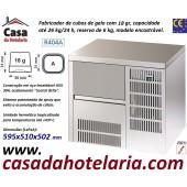 Fabricador Encastrável de Cubos de Gelo com 18 gr, 26 kg/24h, Reserva 6 kg. Condensação a Ar, Monofásico (transporte incluído) - Refª 101820