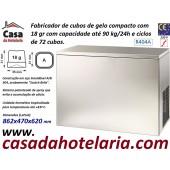 Fabricador de Cubos de Gelo com 18 gr, 90 kg/24h, 72 cubos por ciclo. Condensação a Ar, Monofásico (transporte incluído) - Refª 101821
