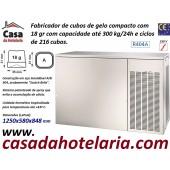 Fabricador de Cubos Gelo com 18 gr, 300 kg/24h, 216 cubos p/ciclo. Condensação a Ar, Monofásico (transporte incluído) - Refª 101823